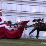 Boston Dynamics robot rendieren van de Kerstman