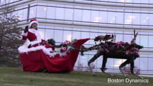Boston Dynamics Roboter-Rentier-Weihnachtsmann
