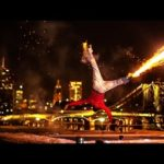 Breakdance feux d'artifice