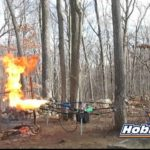 Drone with flamethrowers roast turkey