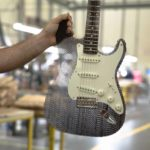 Fender Stratocaster made of cardboard