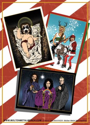 Heavy Metal Heros Christmas Cards