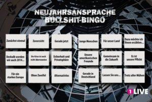 Iso uudenvuoden puhe Bullshit Bingo