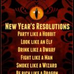New Year's Resolutions from Middle Earth