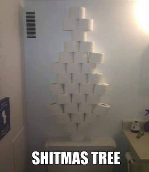 for all, which it was not enough for Christmas: Shitmas Tree