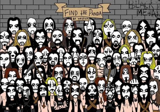 Finding the Panda, Black Metal Version