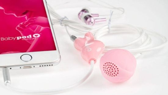 Babypod: This speaker is inserted into the vagina