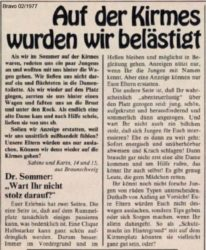 Selbst Schuld am Sex-Mob - Dr. Sommer 1977