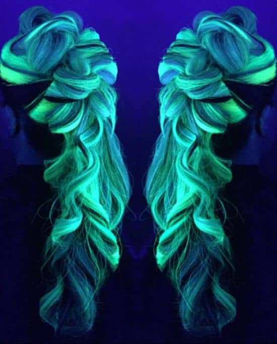 Rainbow Hair, som lyser i mörkret