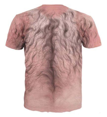Behårede bryst t-shirt