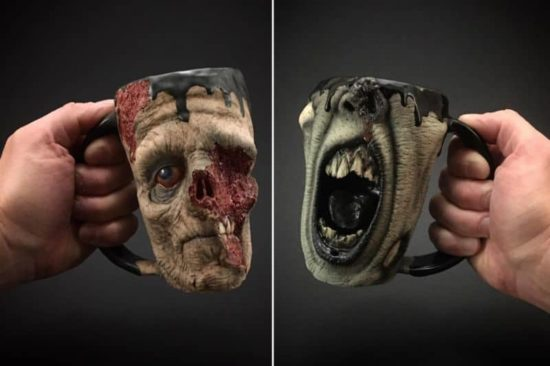 Ceramist Kevin Merck and its cups of Horrors