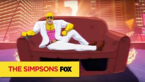 80er Jahre Miami Vice Simpsons Couch Gag