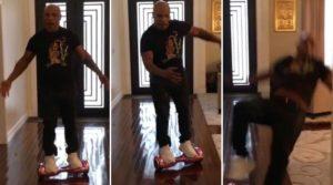 """Autsch: Mike Tyson auf einem """"Hoverboard"""""""