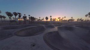 Mit der Drohne über Venice Beach