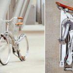 agora bicicleta: Roda sem hub, fácil de dobrar