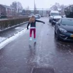 Skating on Dutch roads