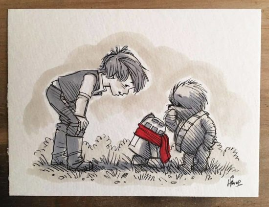 Star Wars-personages als Winnie the Pooh en zijn vrienden