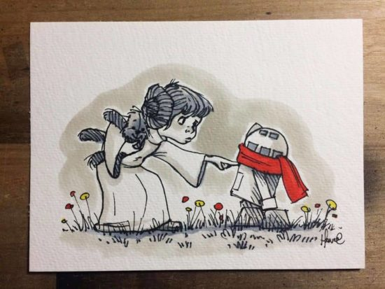 Star Wars characters as Winnie the Pooh and his friends