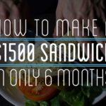 Hombre Wie en 6 meses $1500 haciendo sándwich