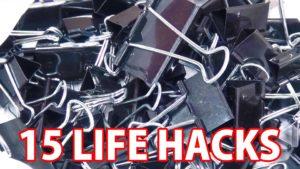 15 Lifehacks mit Aktenklemmen