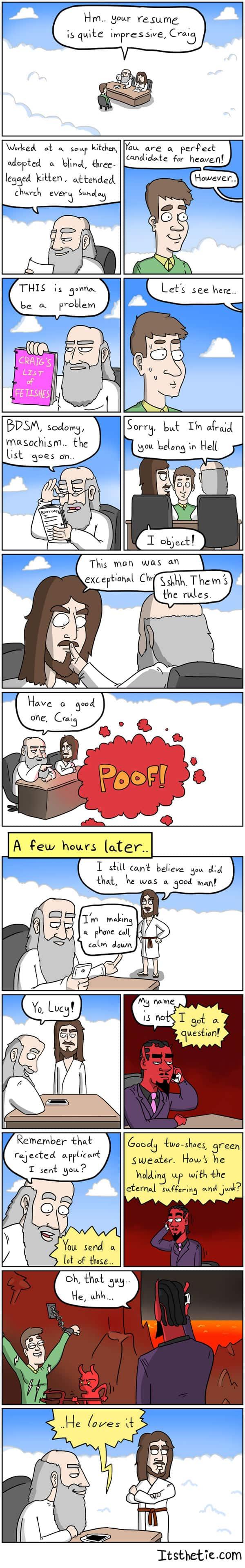 Tanrı'nın Maceraları: reddedilen başvuru sahipleri
