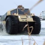 Amphibious vehicles on thin ice