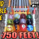 The longest race marbles in the sand