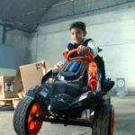 NERF Battle Racer: Tretauto für Kinder mit Schaumstoffpfeilen