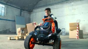 NERF Battle Racer: Pedal car for children with foam arrows