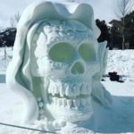 Day of the Dead in the snow