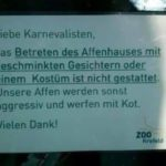 Monkeys do not like Fasnacht!