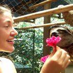 Sloth gets flower