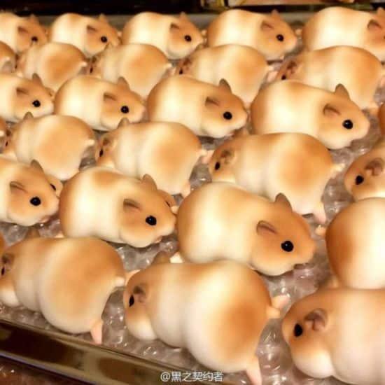 Japanese bakery bakes bread as Hamster