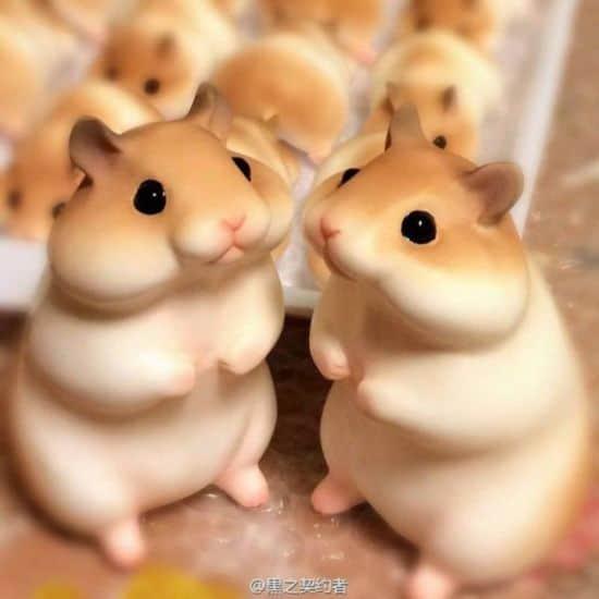 Japanska bageri bakar bröd som Hamster