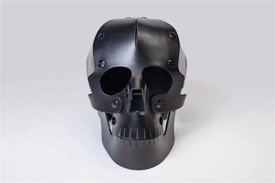 Handmade leather skull from Brooklyn