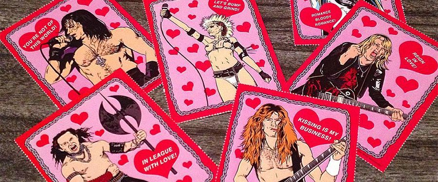 b3004159e2cb8 Heavy Metal Heroes Valentines Day Cards
