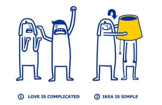 IKEA shows, how easy it is, to solve love problems