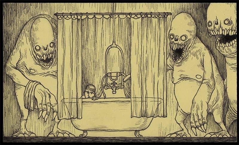 страшные картинки нарисованные карандашом