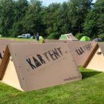 kortet t: Vattentät Open-Air Festival bostad från kartong