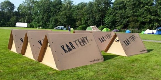 carte t: Waterproof Open-Air Festival de logement en carton