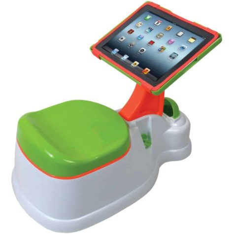 Kinderklo with iPad holder