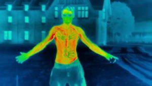 Body kylning hölls på frysning grader med värmekameran