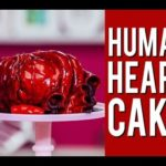 Cake in human heart shape