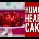 Pastel en forma de corazón humano