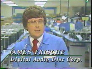 Nachrichten Beitrag zum Debüt der CD aus dem Jahr 1985