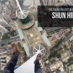 klatre Uden backup på en 384 høj skyskraber