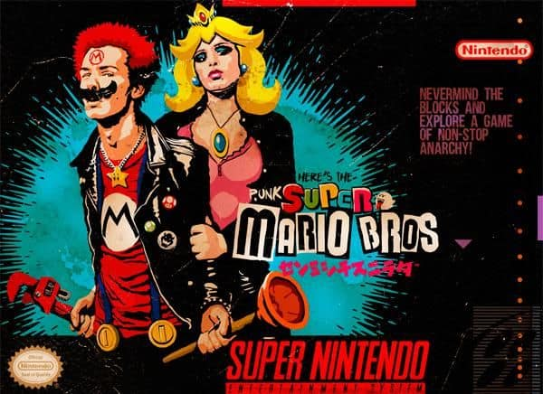 Super MⒶrio Punk: Sid & Nancy Nintendo Förlorade Levels