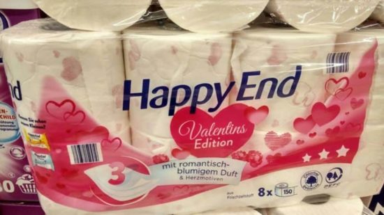 papel higiénico de San Valentín