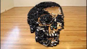 Anamorphic Dead Media Skulls