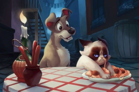 Grumpy Disney: Grumpy cat as a movie star